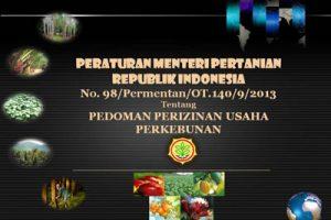 Permentan No. 93 Th 2013
